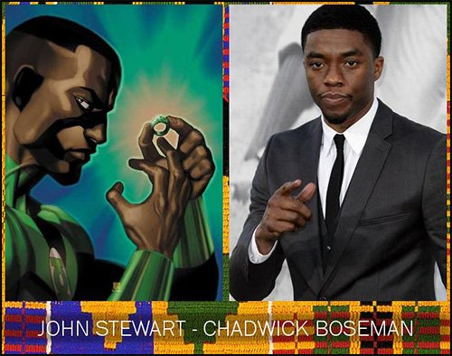 Chadwick Boseman and Green Lantern