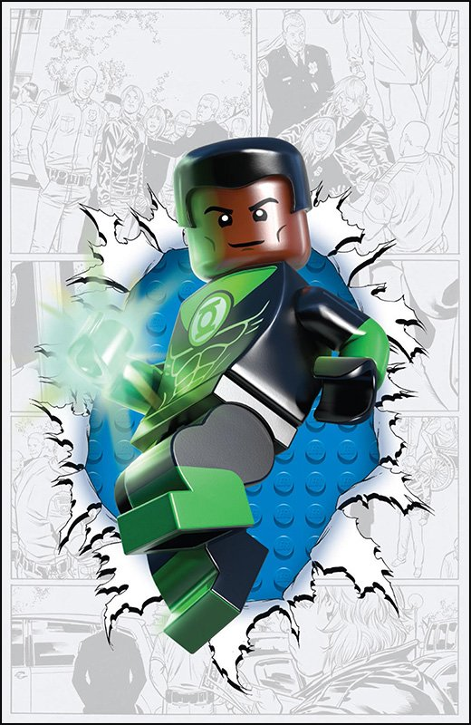 Green Lantern Corps Lego Variant Cover